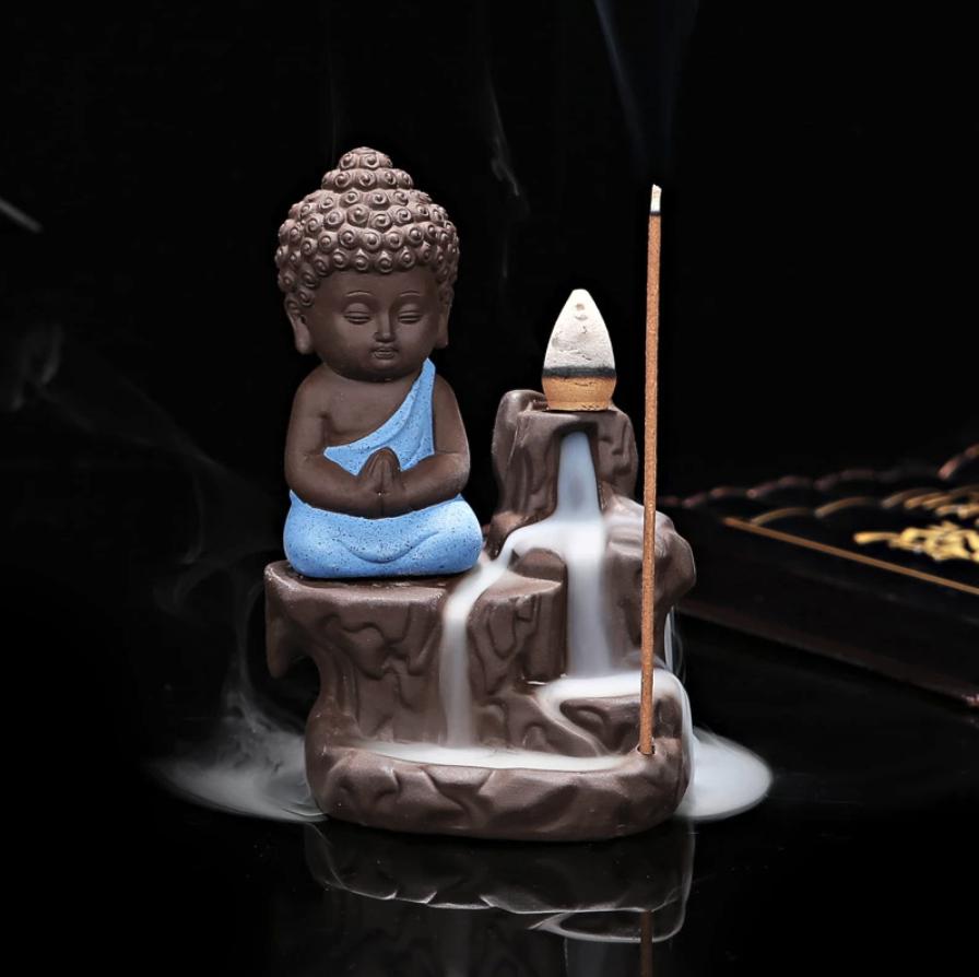 monk incense burner