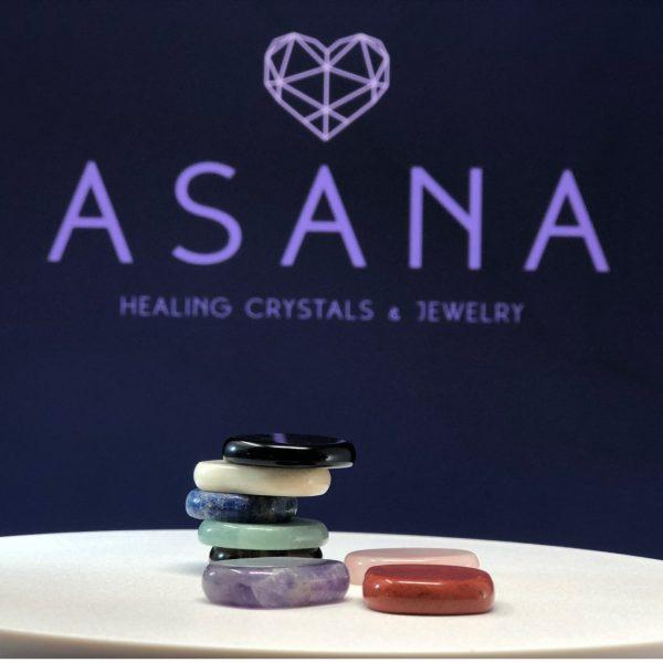 asana chakra stones