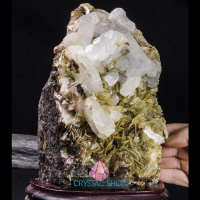 large crystal cluster