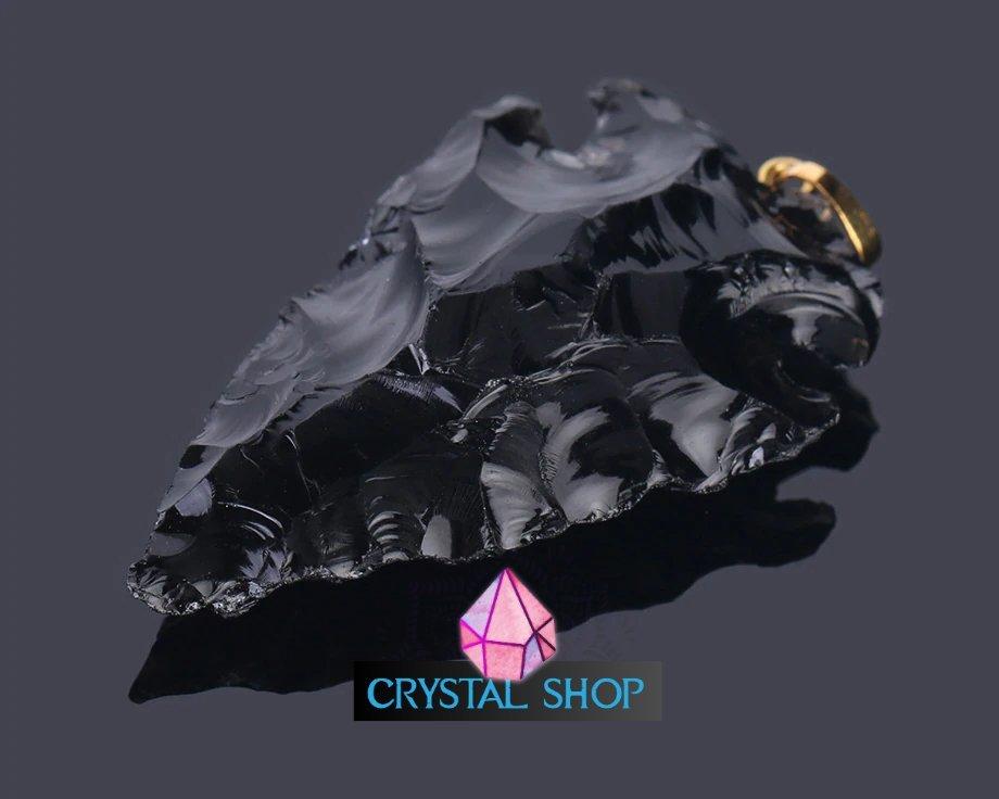 black obsidian amulet
