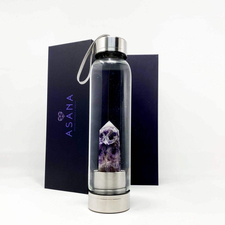 amethyst crystal water bottle