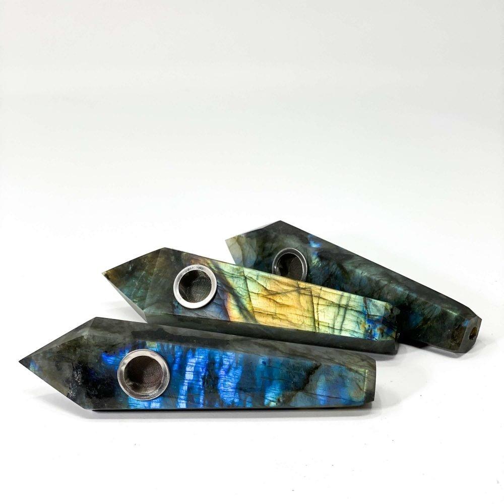 labradorite crystal pipe