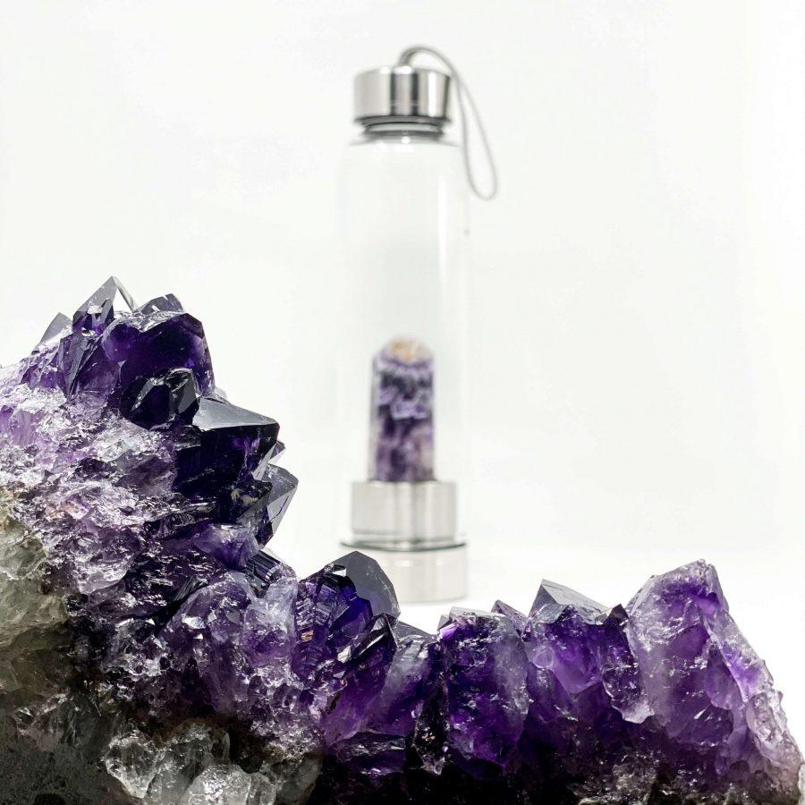 amethyst crystal bottles