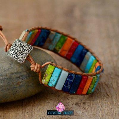 natural stone chakra bracelet