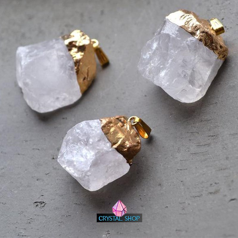 Gold Dipped Crystal Pendant