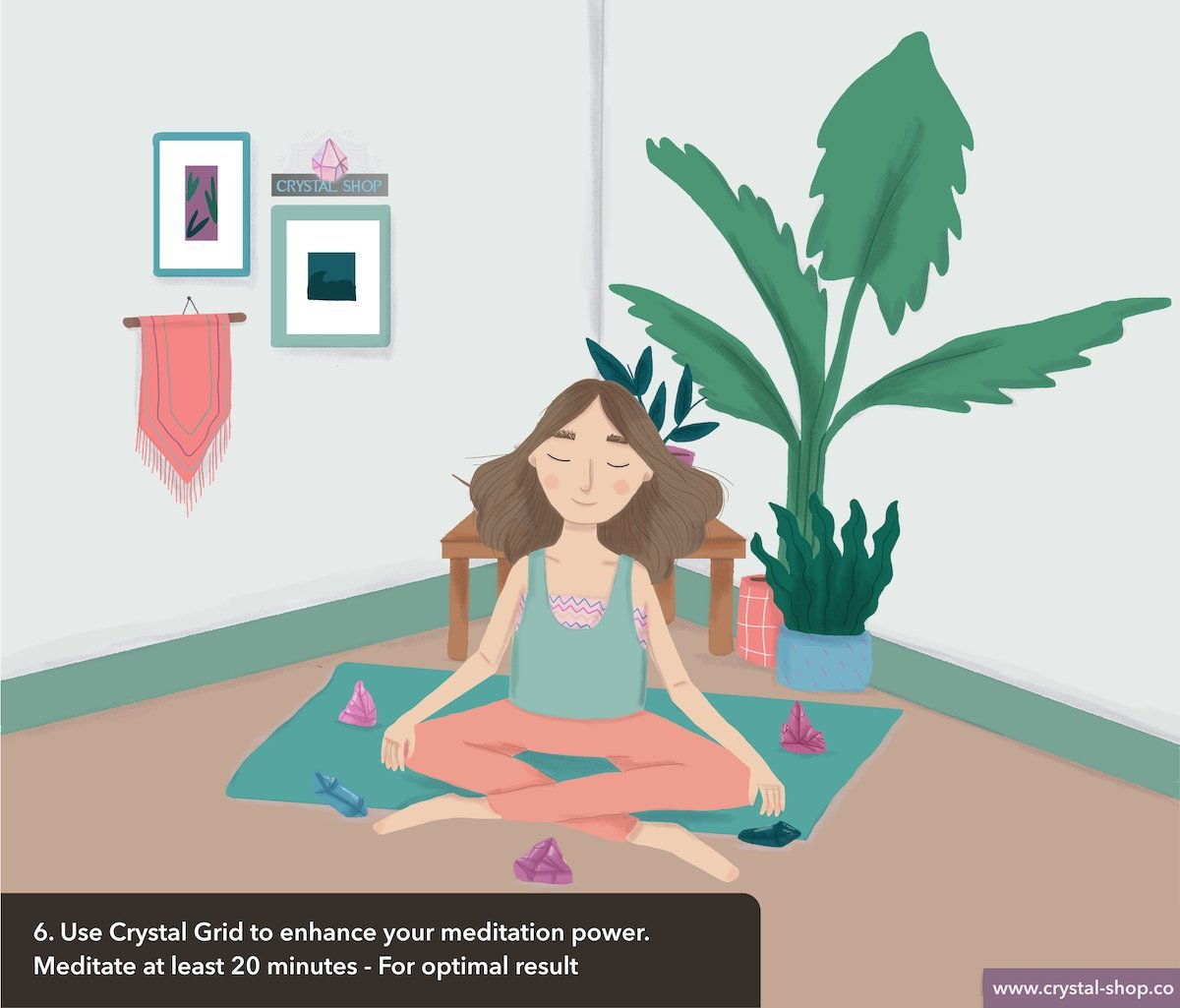 healing yoga crystals