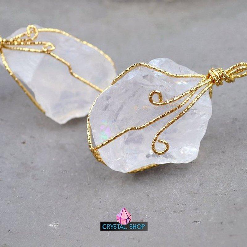 raw crystal pendant