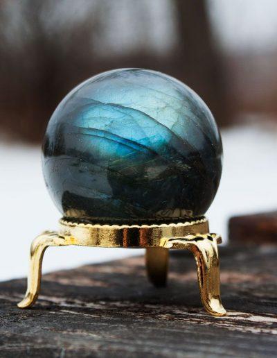 labradorite sphere ball crystal