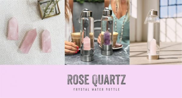 rose quartz water bottle
