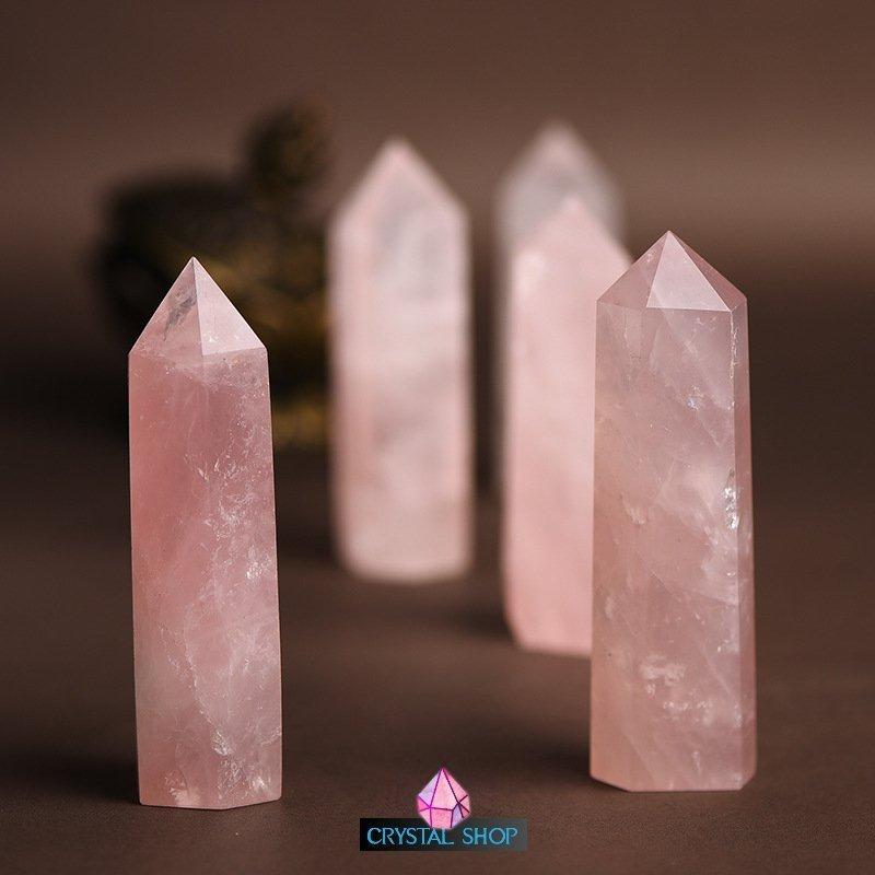 rose quartz point