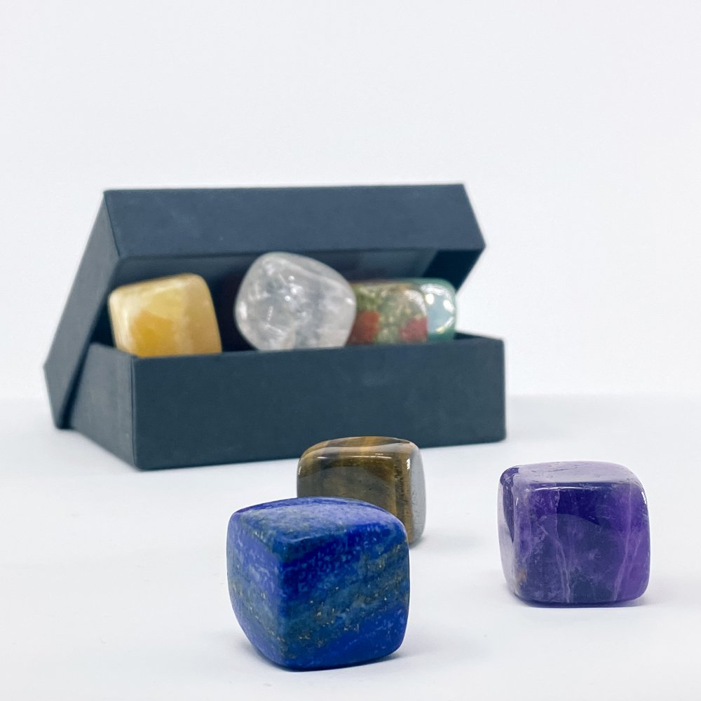 tumbled stones and crystals