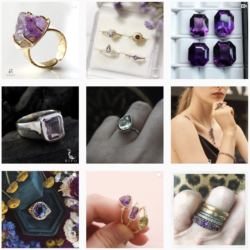 Amethyst ring for woman