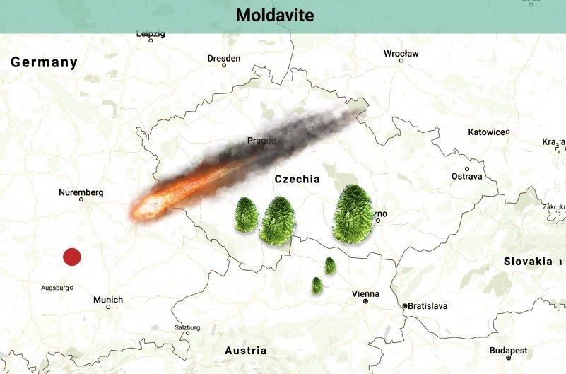 Moldavite meteor