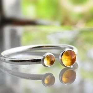 citrine rings sterling silver