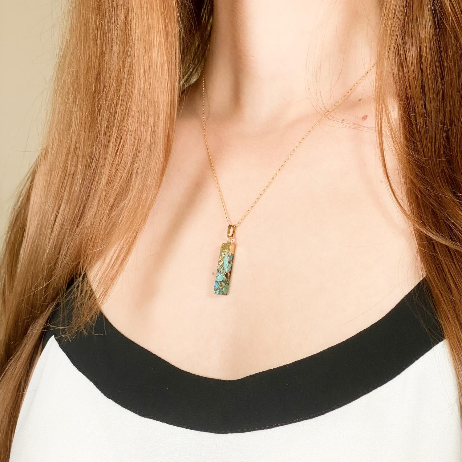 Turquoise Necklace Gold