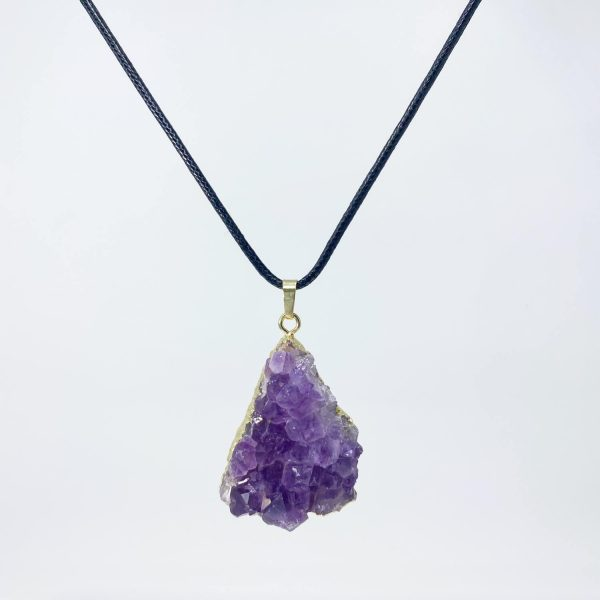 amethyst gold necklace