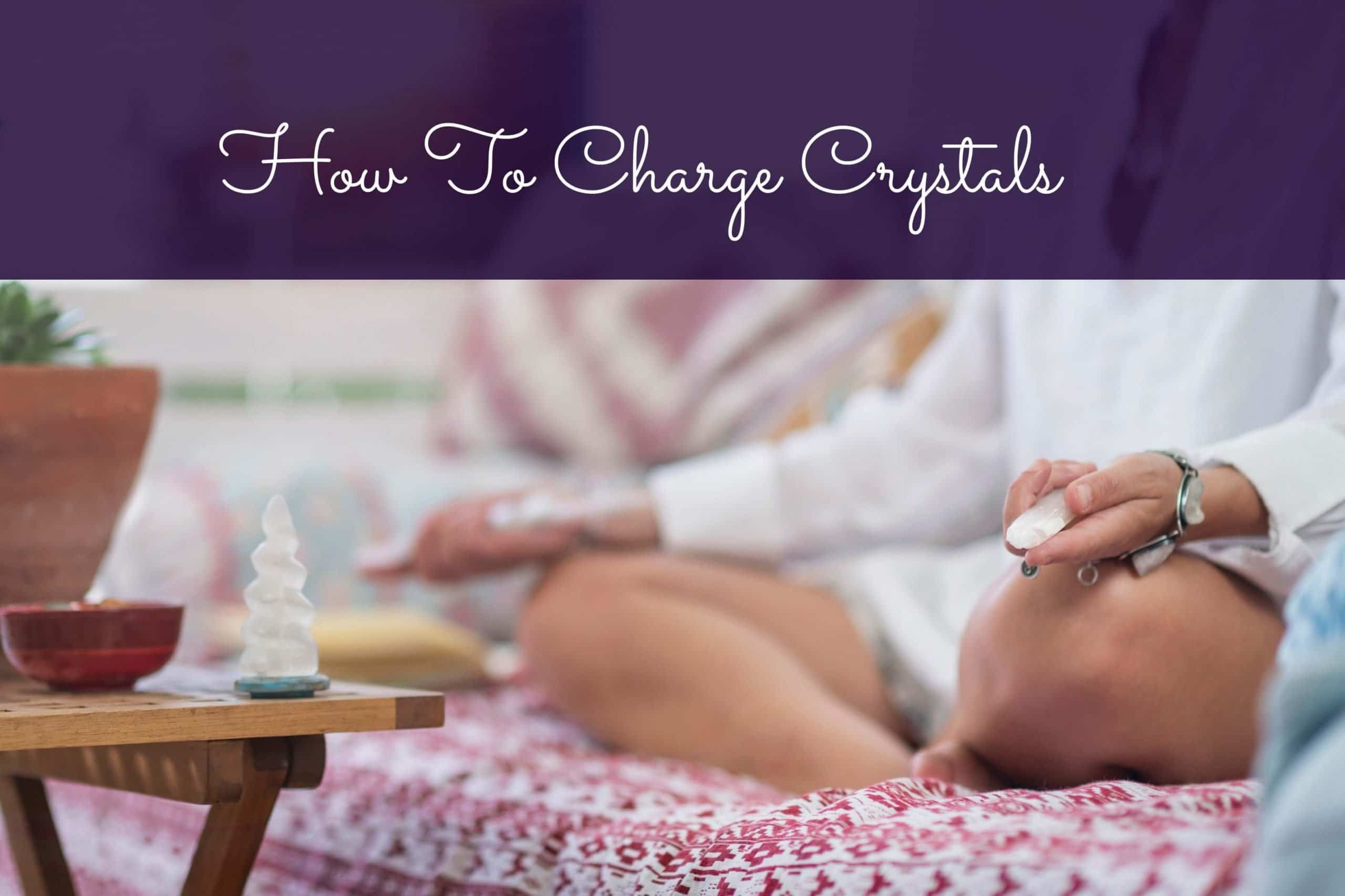 how to cleanse crystals with sage