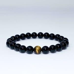 black onyx and tiger eye bracelet