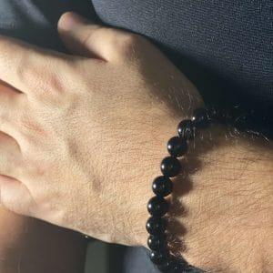 black onyx bracelet mens