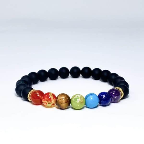 Mens Onyx Chakra Bracelet