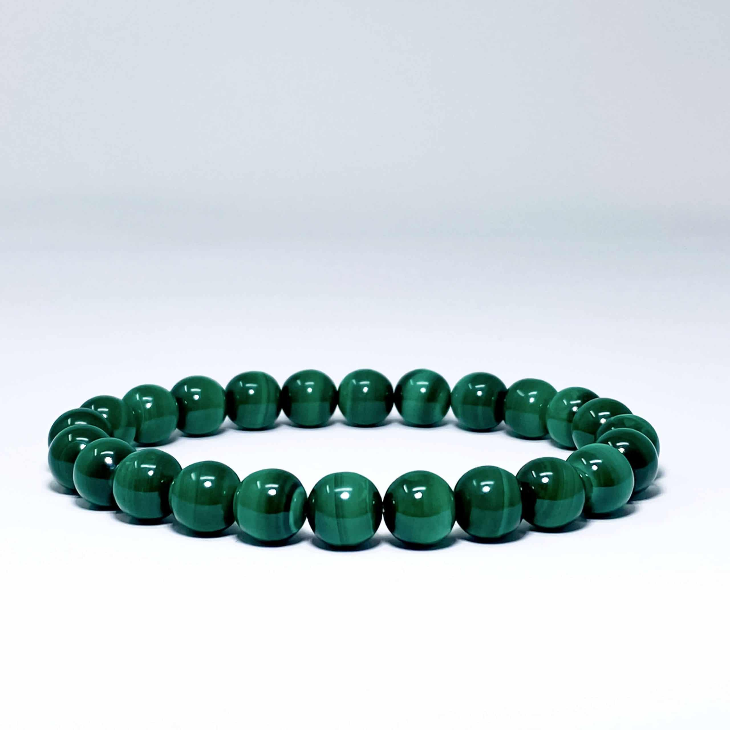 malchite beaded bracelet stone1 scaled