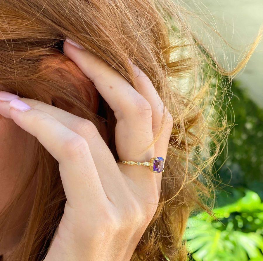 amethyst ring crystal rings