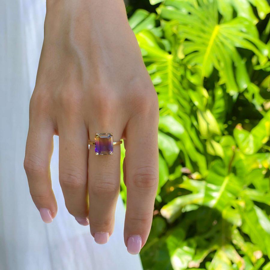 gemstone ring ametrine