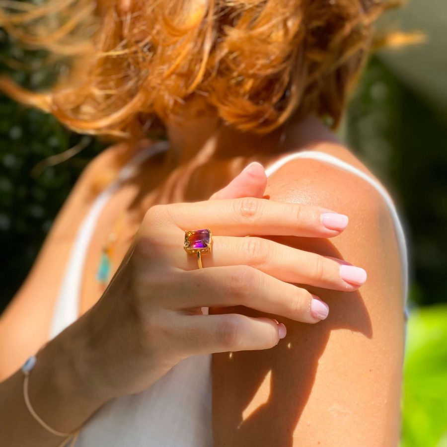 ametrine engagement ring