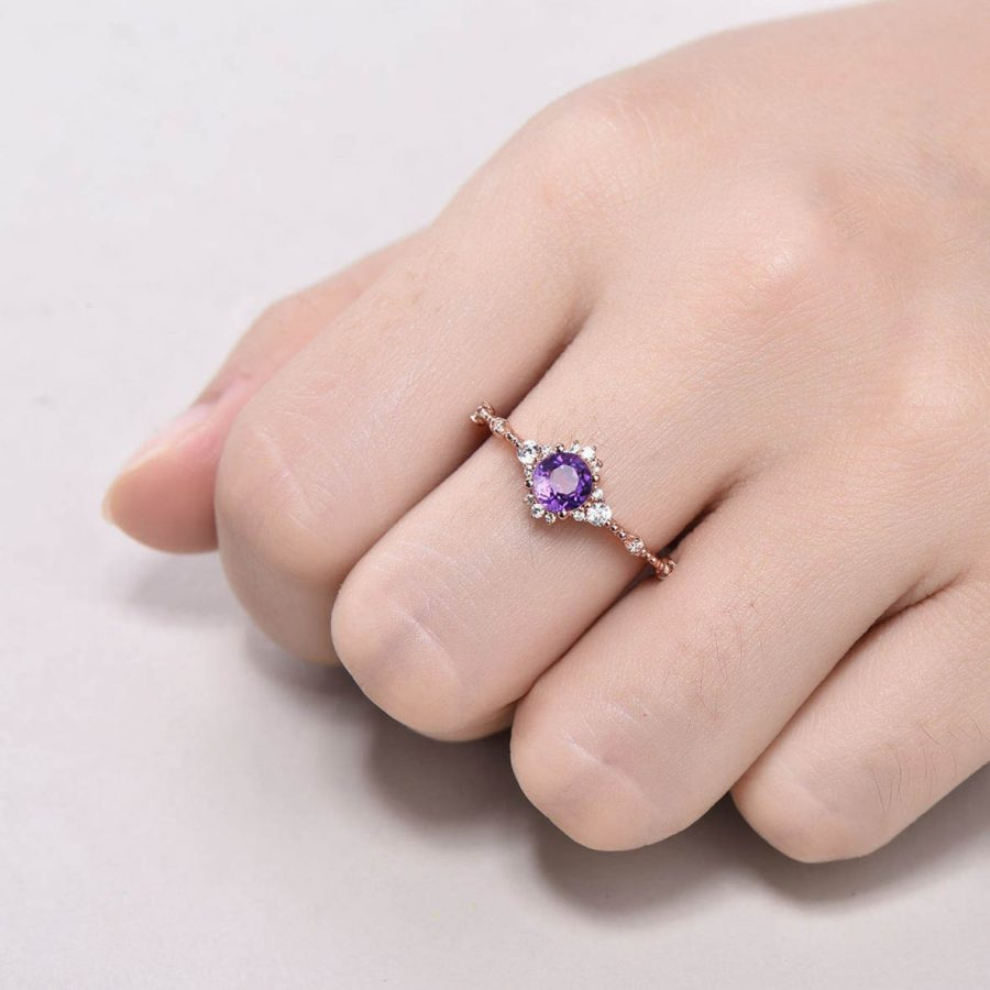 amethyst promise ring