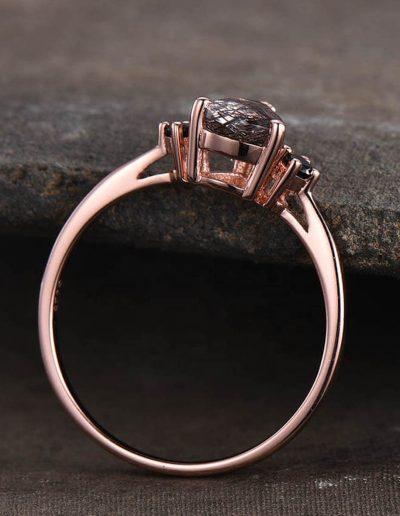 black quartz ring