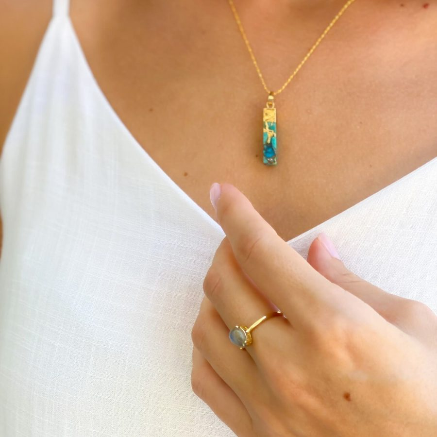 labradorite ring gemstone