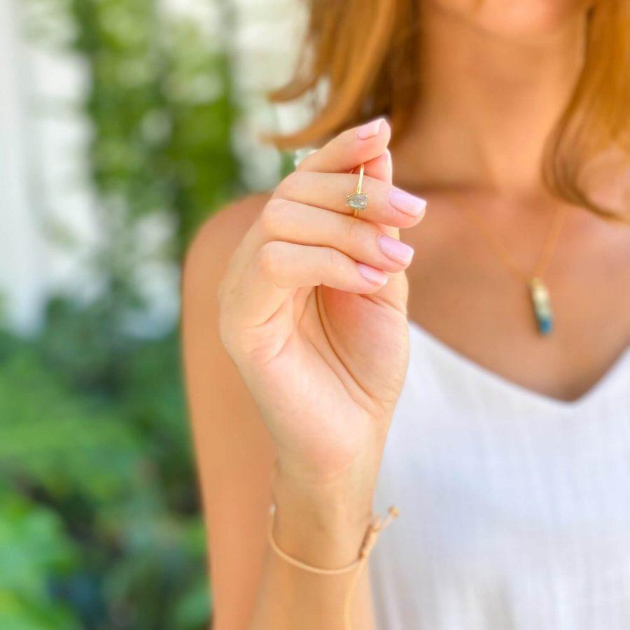 labradorite crystal ring