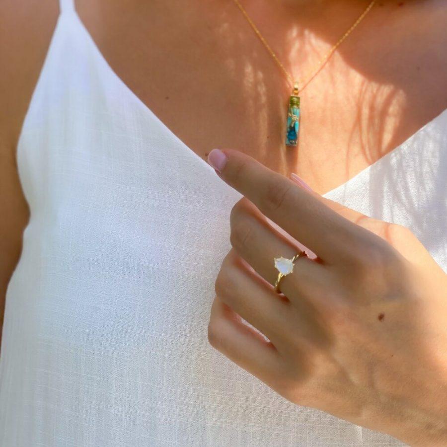 moonstone cheap engagement ring
