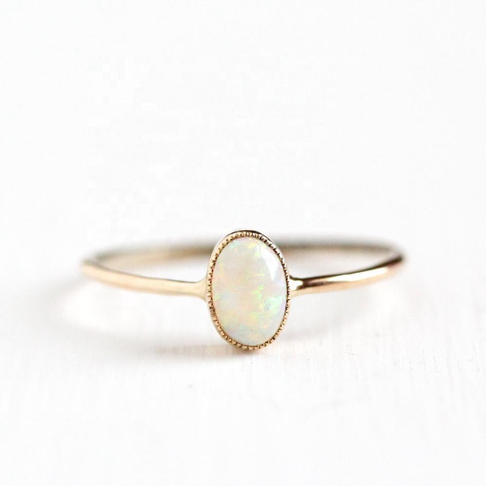opal ring 14k