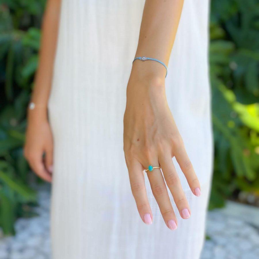 gemstone turquoise ring