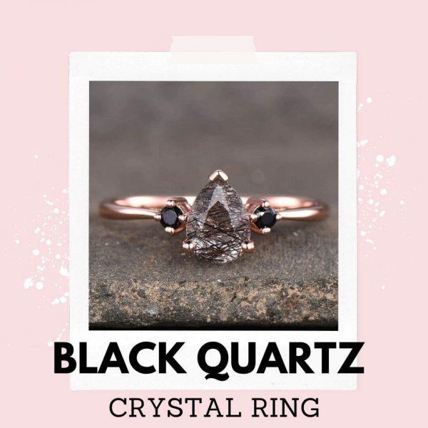 crystal rings black