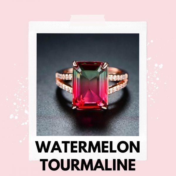 watermelon pink tourmaline ring