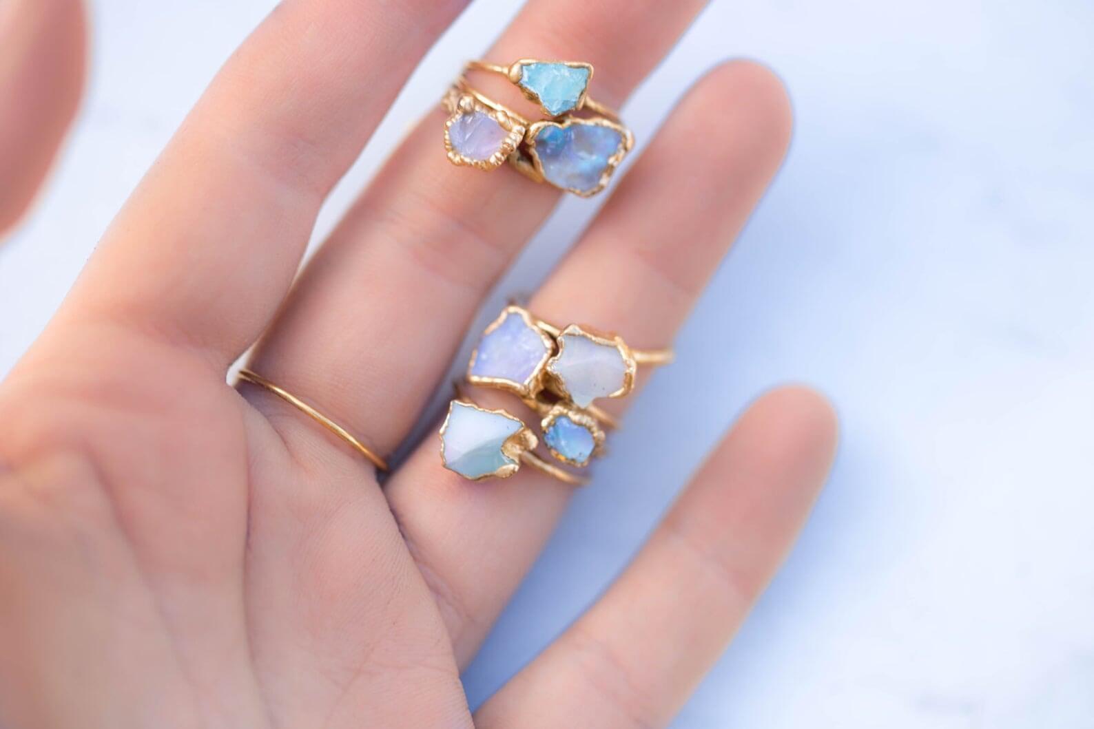 opal rings for women engagement