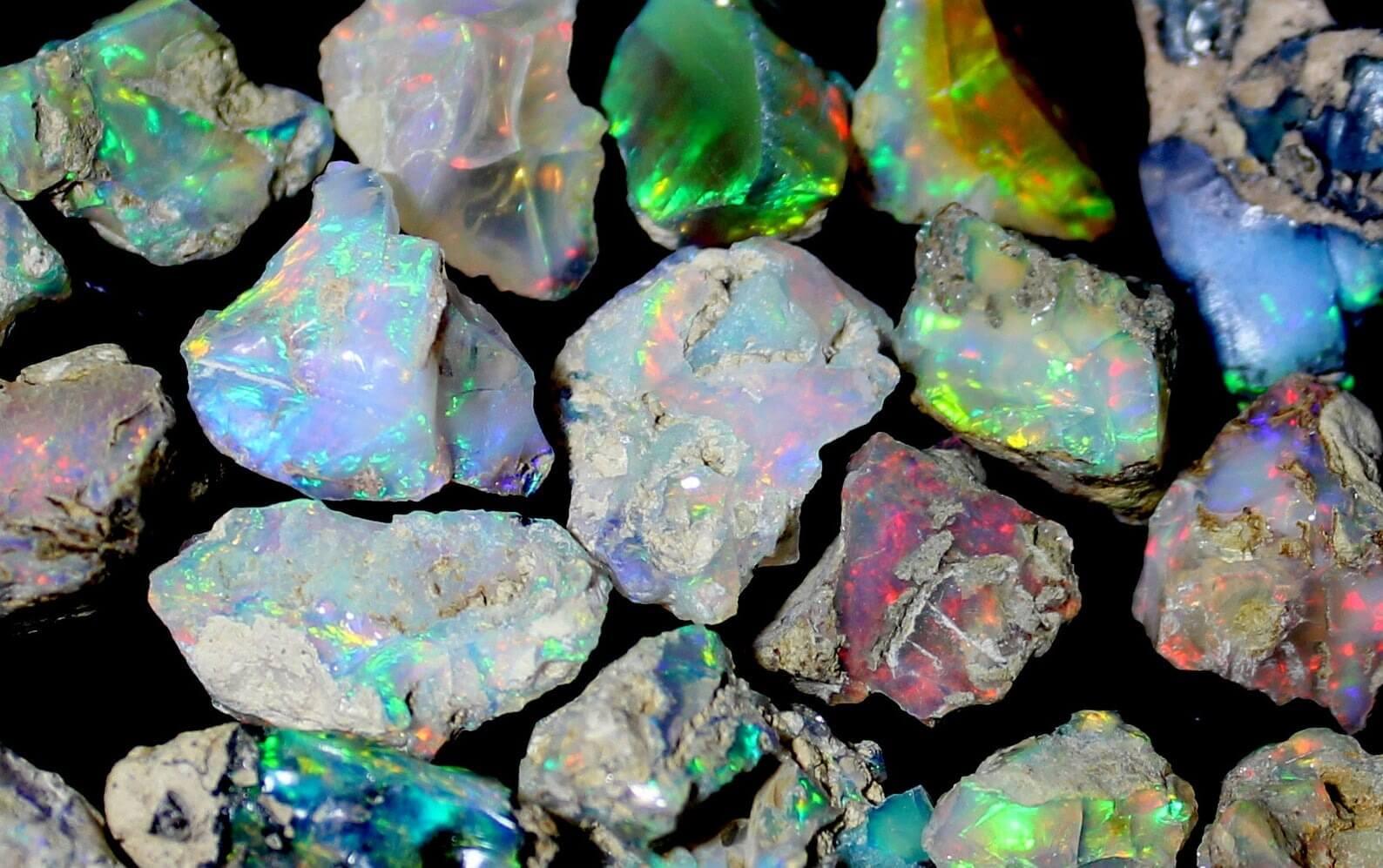 Opal stone rings