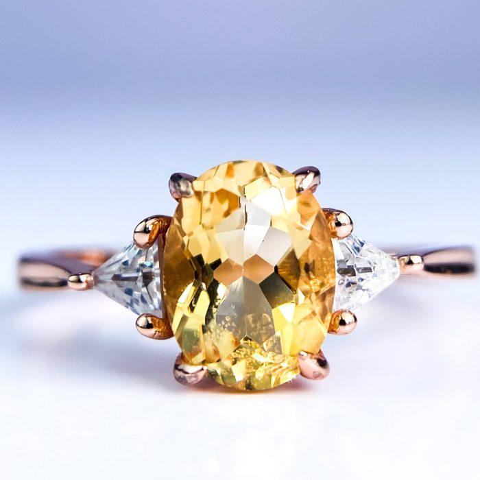 citrine ring 14k rose gold