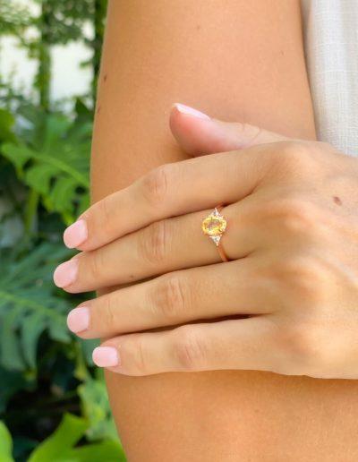 citrine ring engagement